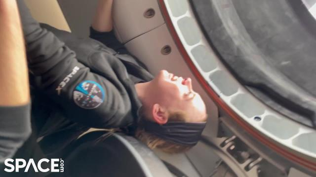 See the Inspiration4 crew peer through the SpaceX Crew Dragon cupola window for 1st time