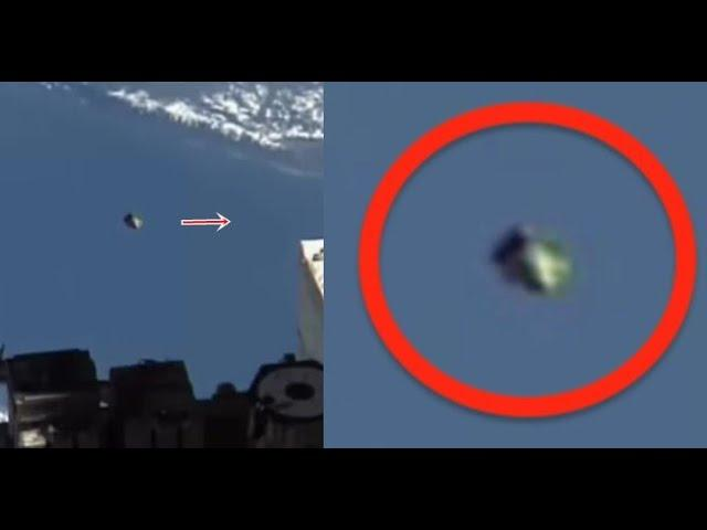 UFO At Space Station Shoots Out Into Space