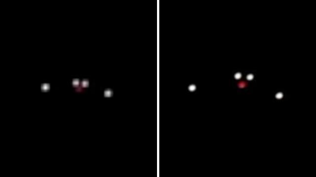 Silent Triangular UFO Craft Hovering over San Diego, California (La Jolla) - FindingUFO