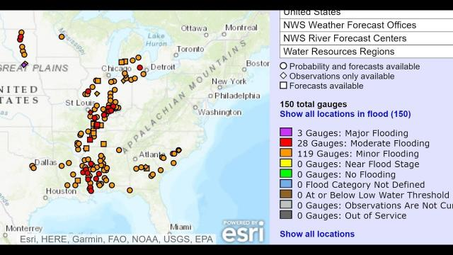 152 rivers Flooding. Coast to Coast storm & is winter over?