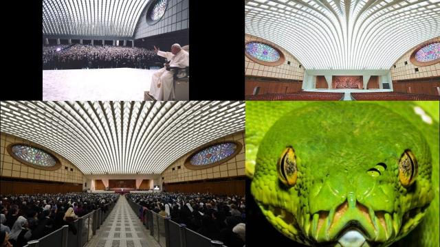 Reptilian Alien Snake? Bizarre Secrets Behind The Pope's Audience Hall Exposed! 11/18/17