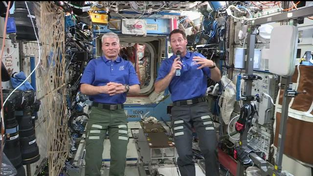 Space Station Crew Talks with WeatherNation