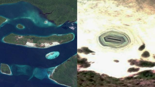 Entrance to Underground Base Discovered in Secluded Indonesian Island on Google Earth - FindingUFO