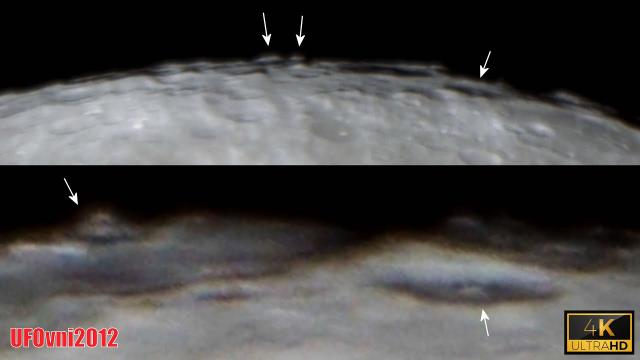 TELESCOPE 4K: Structures and UFOs Behind The Hidden Face of The Full Moon?