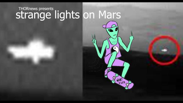 Strange Lights on Mars. Spaceship? UFO? WTF?