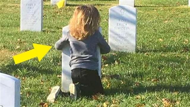 This Little Kid Sleeps On Dad's Grave Tells Mom Something That Leaves Her Floored