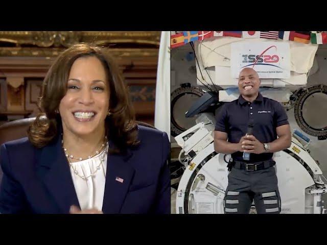 VP Kamala Harris calls space station, talks with NASA's Victor Glover