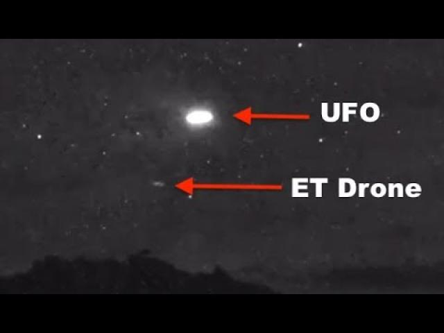 UFO Seeding Drones Over Jackson, Wyoming On Security Camera