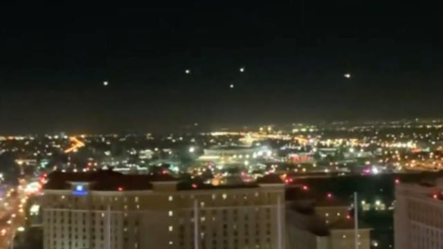Stationary UFOs with Bright Lights Filmed from Hotel Balcony over Las Vegas (Nevada) - FindingUFO