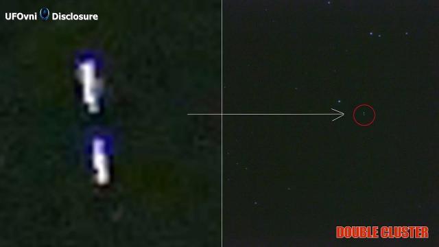 TELESCOPE Double Cluster: 7502 Light Years, Captured UFO Light (Video 4K)