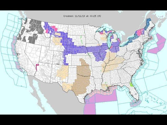 Wild Weather USA: Storm from Montana to TX to NE then Freeze next 48 Hours