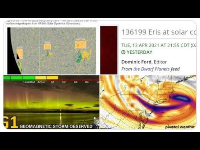 Tsunami. Eris Energy & Nor'easter? 4 SUNSPOTS? Florida & Southeast storms & more Volcano activity.