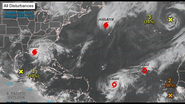 Hurricane Sally Category 2 sustained 100 mph wind speeds & strengthening & the Oceans are Active.