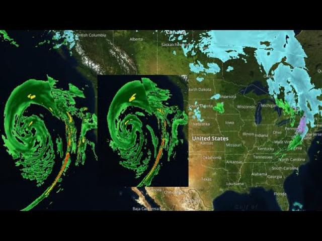 The West Coast Monster storm is intense.