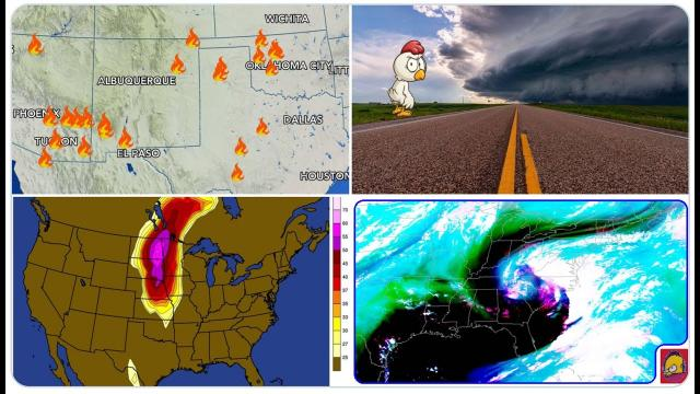 Wildfire season is lit! Carolina Rain Continues! Tornadoes for Dakotas! Canadians wowed by storm!