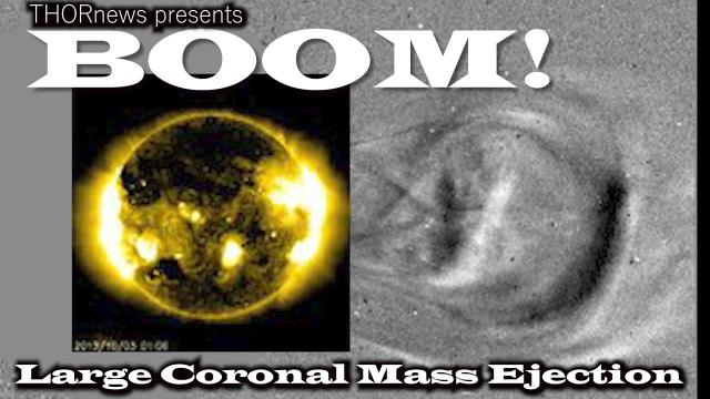 Boom! Large Coronal Mass Ejection! & the Sun gettin' Jiggy Wit It.