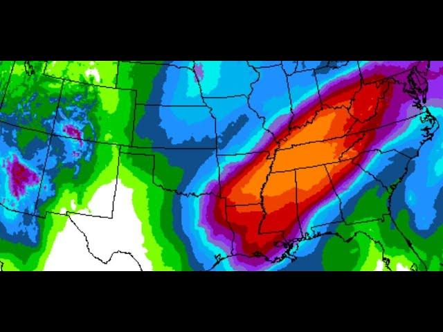 Alert! Danger! 10 days of Rain for Middle USA & Hawaii Rains & Next California Storm