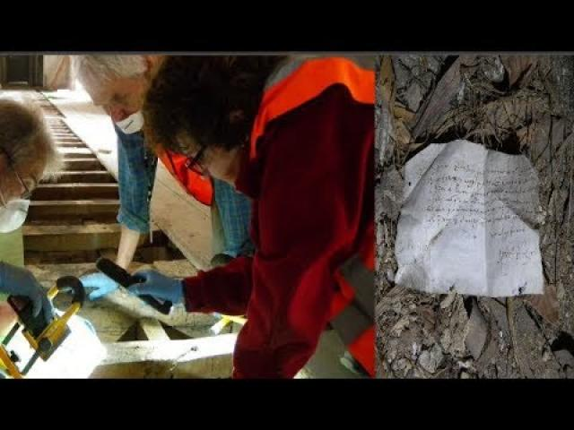 Experts Restoring A Historic Home Found Two 400 Year Old Notes Hidden Beneath The Floorboards