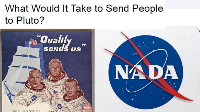 What would it take to send people to Pluto? A REAL space agency.