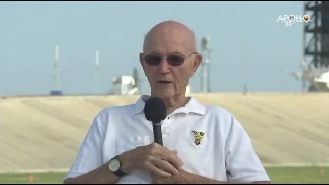 Apollo 11 Astronaut Michael Collins Talks Launch on 50th Anniversary