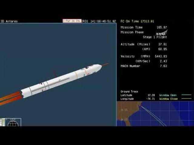 Blastoff! Cygnus Rides to Space Station Atop Antares Rocket