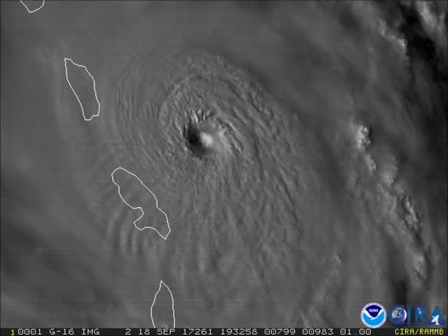 Watch Hurricane Maria's Eye Develop From Space