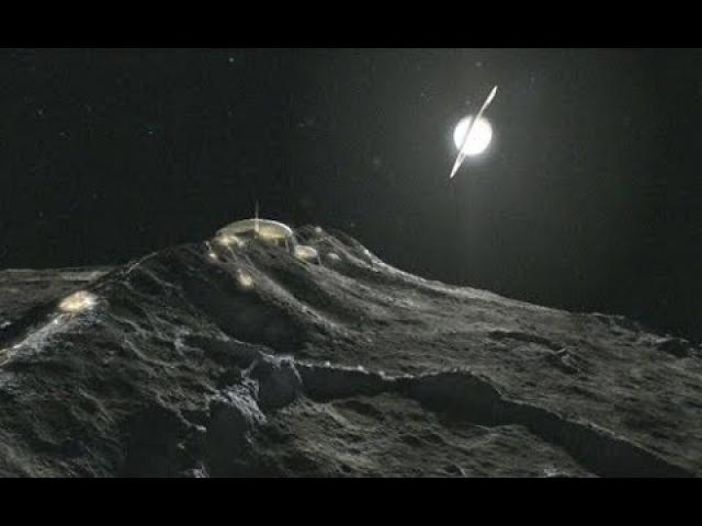 Alien structures and monolith were photographed on Iapetus, the mysterious moon of Saturn!