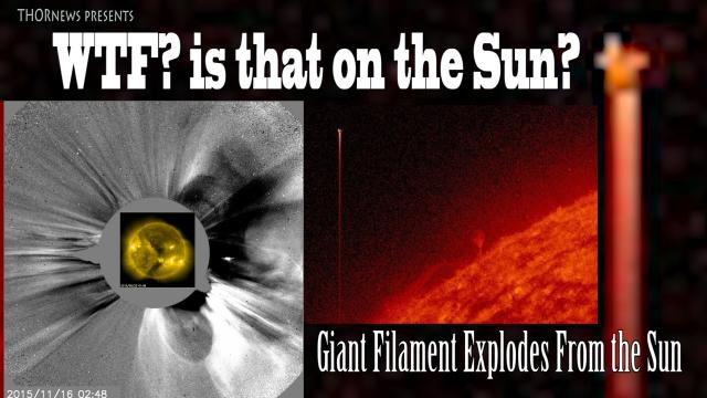 Giant Exploding Solar Filament (possibly Earth Directed) & WTF was that on the Sun?