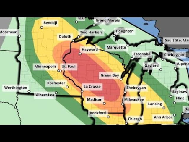 Red Alert! Minnesota & Wisconsin Severe weather on th Way & then tomorrow areas to the East.