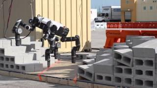 RoboSimian: Four-Footed Robot Competes at DARPA Challenge | Video