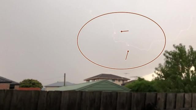 While filming a storm in Moonee Valley, AU, a man caught something extraordinary