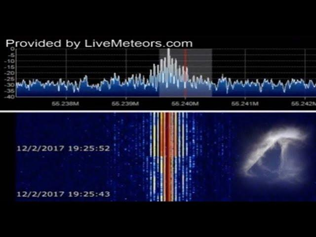 Is something big going through our atmosphere? Mysterious incoming radar signal sound detected!