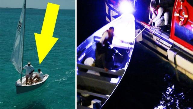 A Cruise Ship Found A Tiny Boat Out At Sea, And Inside Were Two Men Who'd Been Stranded For Weeks