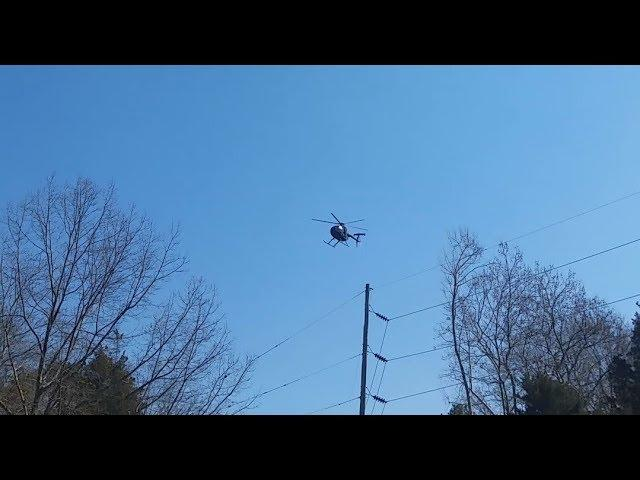 Black Helicopter Watching a UFO in Port Republic, New Jersey