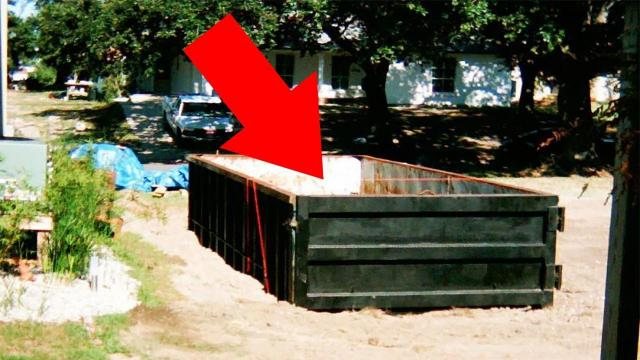 Architect Built A Luxury DIY Pool In His Backyard Using Only A Dumpster
