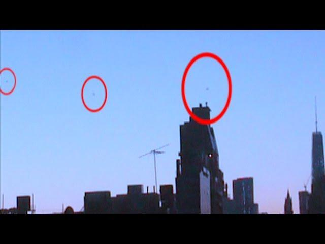 UFO Sighting Over NYC Manhattan Skyline New York City JUNE 2015 Watch In HD