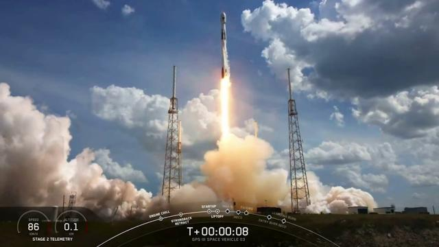 Liftoff! SpaceX launches GPS III satellite for Space Force