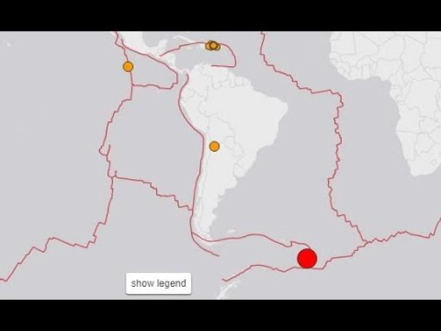7.3 Earthquake South Sandwich Islands