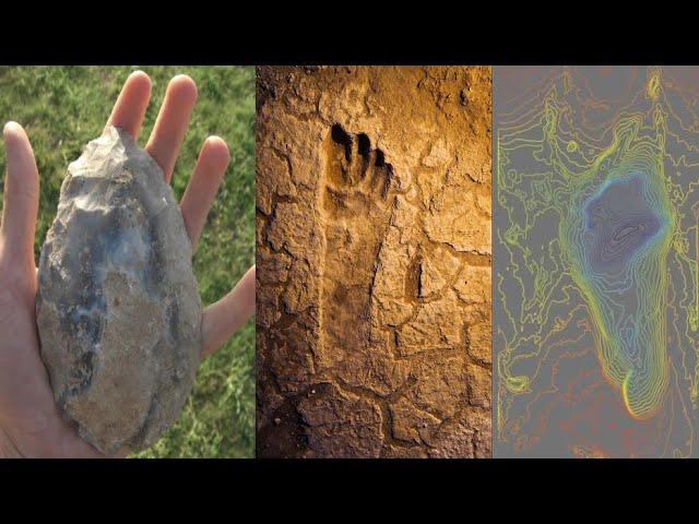 Prehistoric human footprints discovered reveal a rare snapshot of ancient human