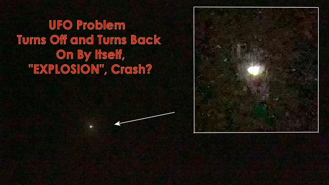 """UFO Problem Turns Off and Turns Back On By Itself, """"EXPLOSION"""", Crash? Sept 20, 2020 (video 4K)"""