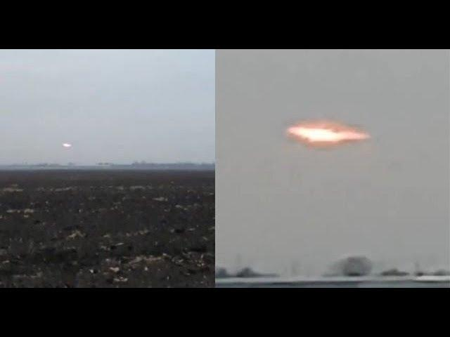 Villagers spooked by huge glowing oval-shaped UFO in the sky over Krasnodar, Russia