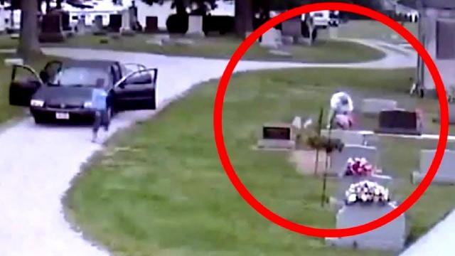 Grieving Parents Hide Camera In Cemetery, Then Discover Horried Truth About Their Strange Visitor.