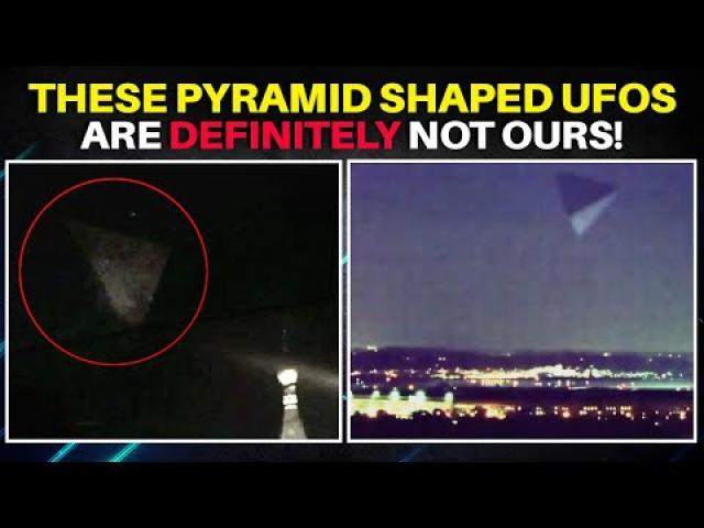Gigantic Tetrahedron Shaped UFOs above Pentagon & Kremlin