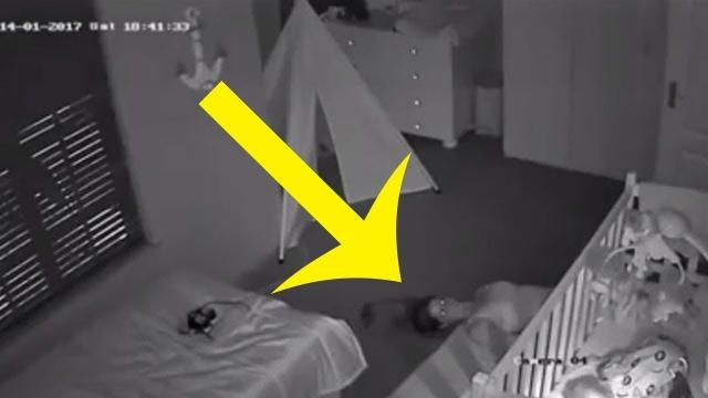 Dad Checking Home Security Footage Is Startled To Spot His Wife Lying On Baby's Bedroom Floor