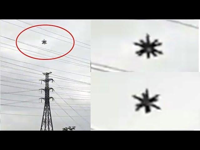 UFO with spikes Seen Over Power Lines In Rio De Janeiro