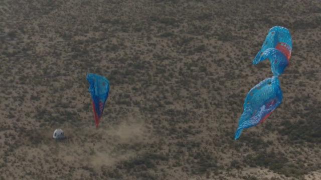 Touchdown! Blue Origin's New Shepard Capsule Lands - NS-12 Mission