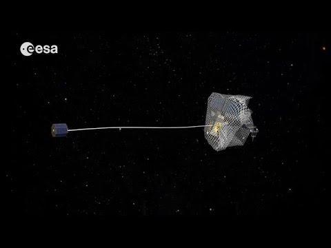 Un Filet Pour Capturer Les Satellites En Fin De Vie