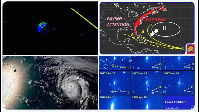 Asteroid OY4 to skim Earth Satellites! Hurricane misses Hawaii! Hyper trackin invest 92L! Odd comet!