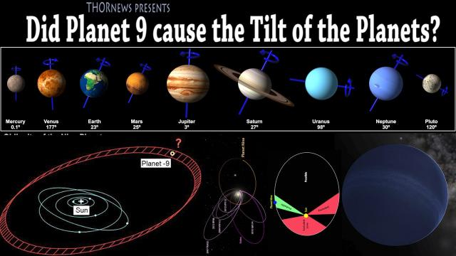 Did Planet 9 TILT the entire Solar System?