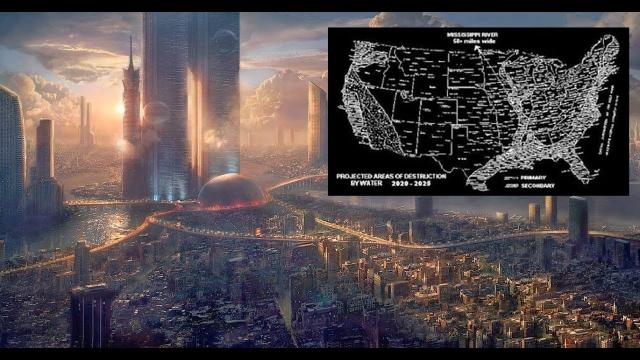 Time Traveler Reveals Map Of The U S  After Major Catastrophes 2020 2025